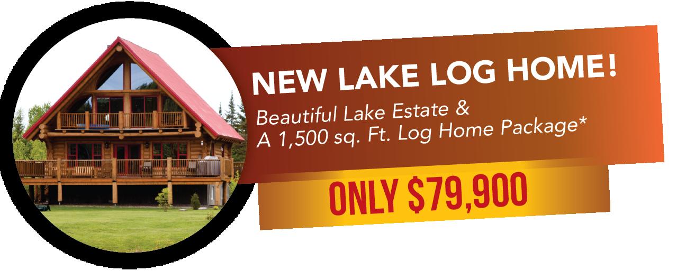 New Lake Log Home